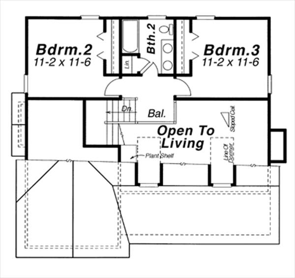 Second Floor image of Featured House Plan: BHG - 6355