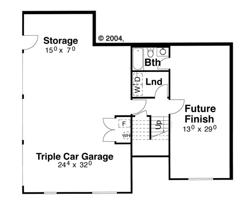 Lower Level image of Featured House Plan: BHG - 5844