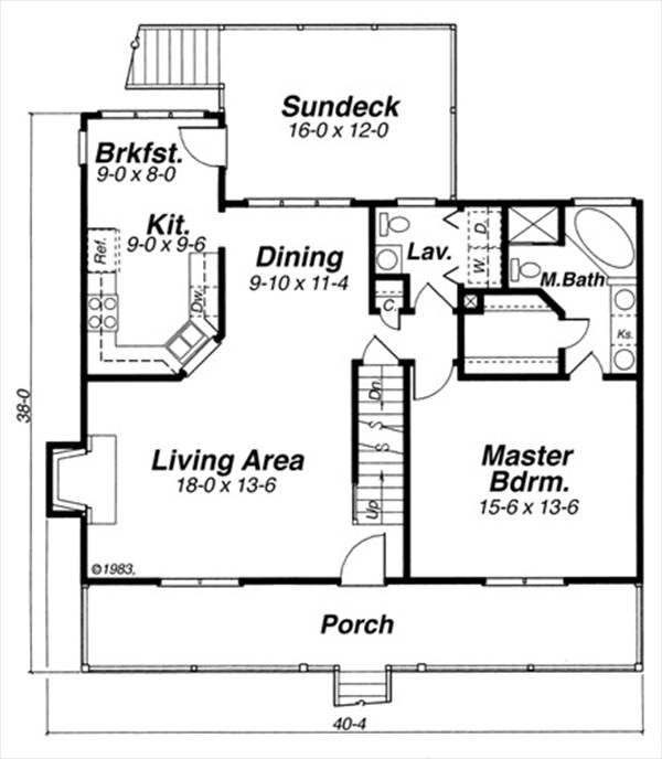 First Floor image of Featured House Plan: BHG - 5730