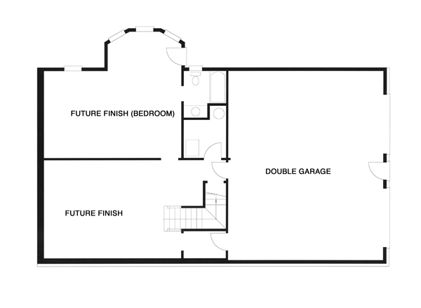 Lower Level image of Featured House Plan: BHG - 8352