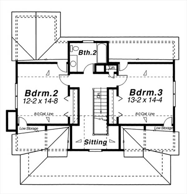 Second Floor image of Featured House Plan: BHG - 8248