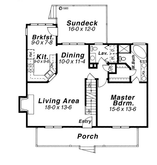 First Floor image of Featured House Plan: BHG - 8248