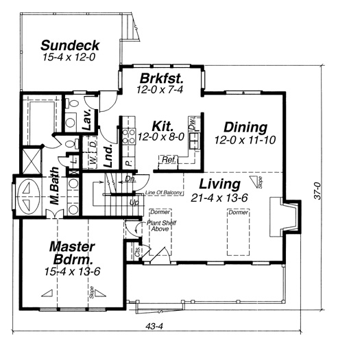 First Floor image of Featured House Plan: BHG - 5834