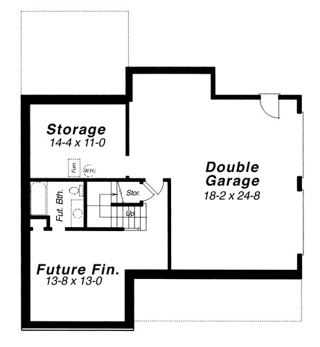 Lower Level image of Featured House Plan: BHG - 5834
