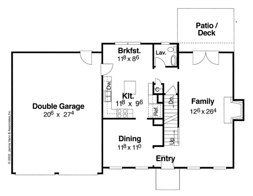 First Floor image of Featured House Plan: BHG - 5837