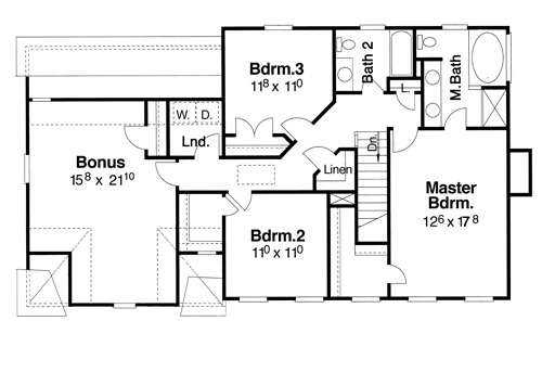 Second Floor image of Featured House Plan: BHG - 5837