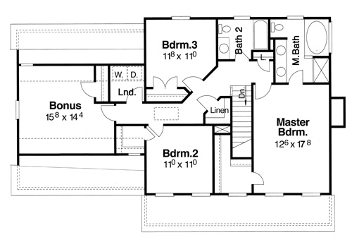 Second Floor image of Featured House Plan: BHG - 8081
