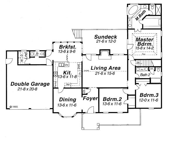 Floor Plan image of Featured House Plan: BHG - 6810