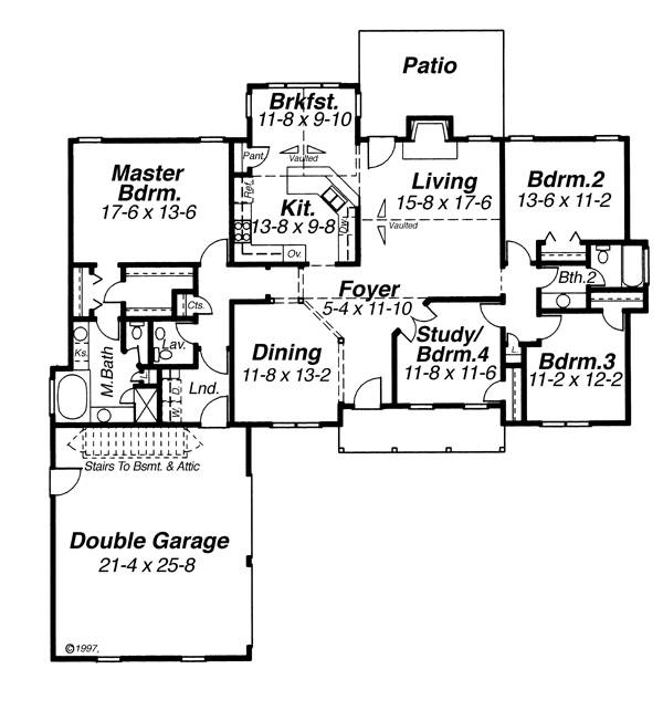 First Floor image of Featured House Plan: BHG - 6809