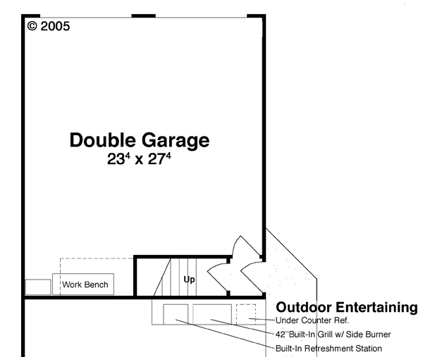 Garage w/ Apt. Above image of Featured House Plan: BHG - 6267