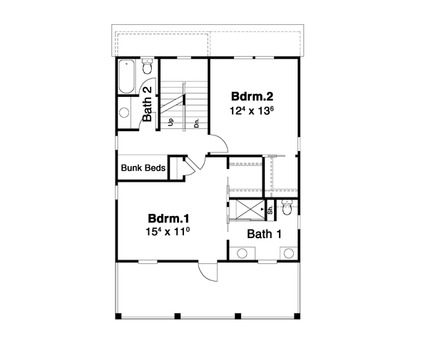Second Floor image of Featured House Plan: BHG - 6267