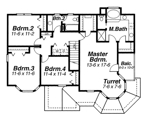 Second Floor image of Featured House Plan: BHG - 5859