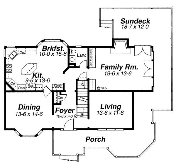 First Floor image of Featured House Plan: BHG - 5859