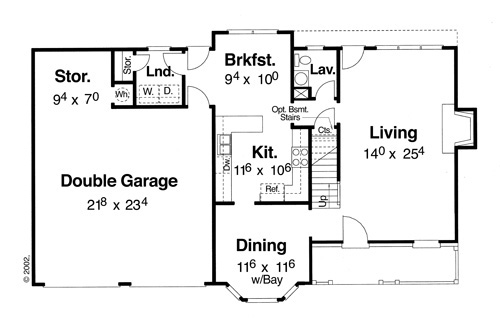 First Floor image of Featured House Plan: BHG - 5836