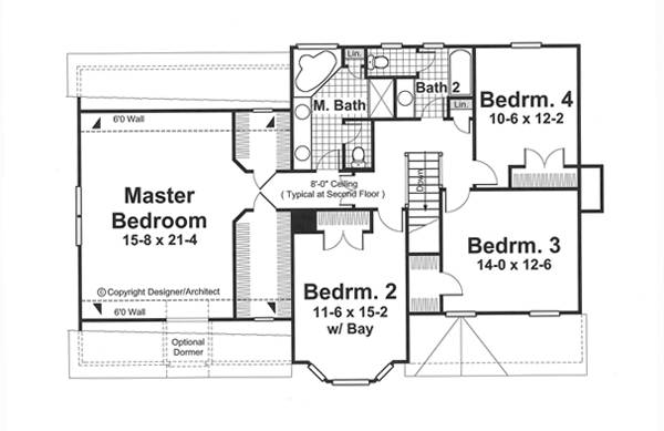 Second Floor image of Featured House Plan: BHG - 5836