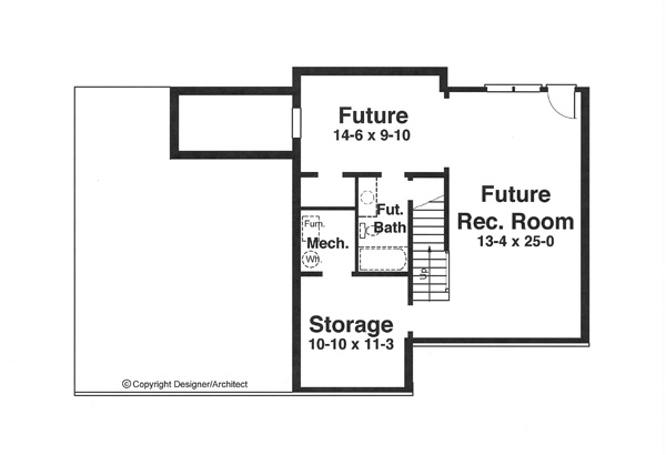 Lower Level image of Featured House Plan: BHG - 5836