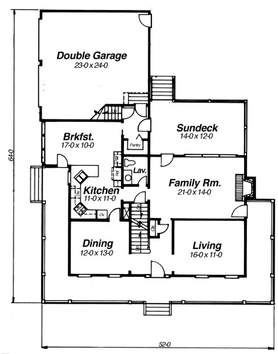 First Floor image of Featured House Plan: BHG - 8259