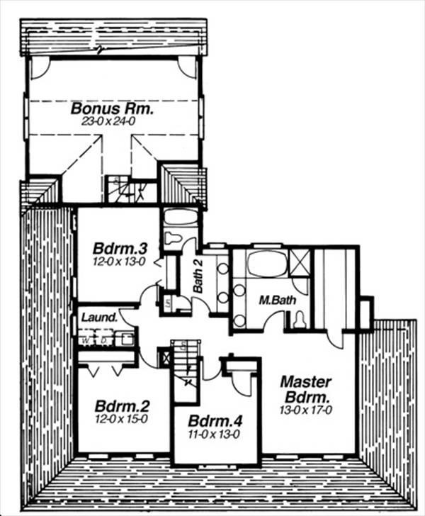 Second Floor image of Featured House Plan: BHG - 8259