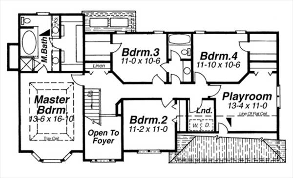 Second Floor image of Featured House Plan: BHG - 8261