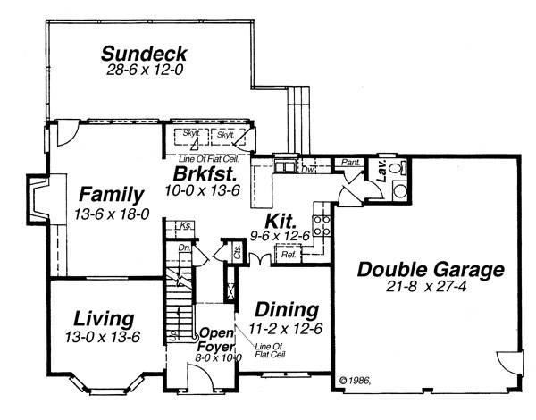 First Floor image of Featured House Plan: BHG - 8261