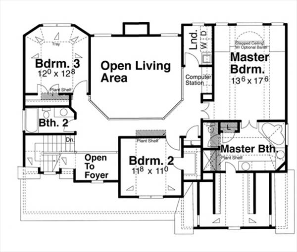 Second Floor image of Featured House Plan: BHG - 5847