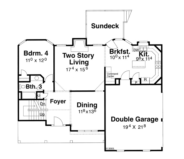 First Floor image of Featured House Plan: BHG - 5847