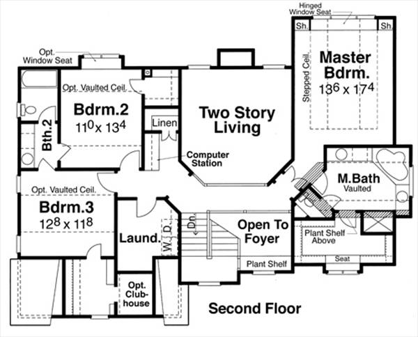 Second Floor image of Featured House Plan: BHG - 5729