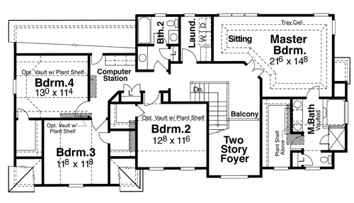 Second Floor image of Featured House Plan: BHG - 6803