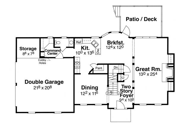First Floor image of Featured House Plan: BHG - 6803