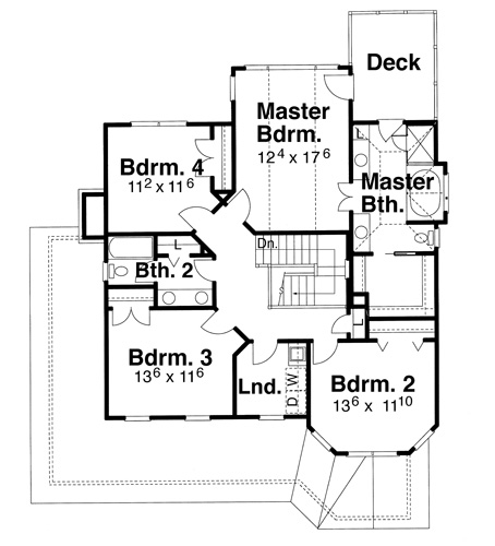 Second Floor image of Featured House Plan: BHG - 8262