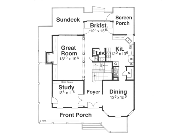 First Floor image of Featured House Plan: BHG - 8262