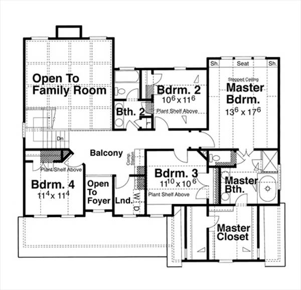 Second Floor image of Featured House Plan: BHG - 6800