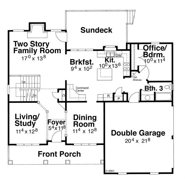 First Floor image of Featured House Plan: BHG - 6800