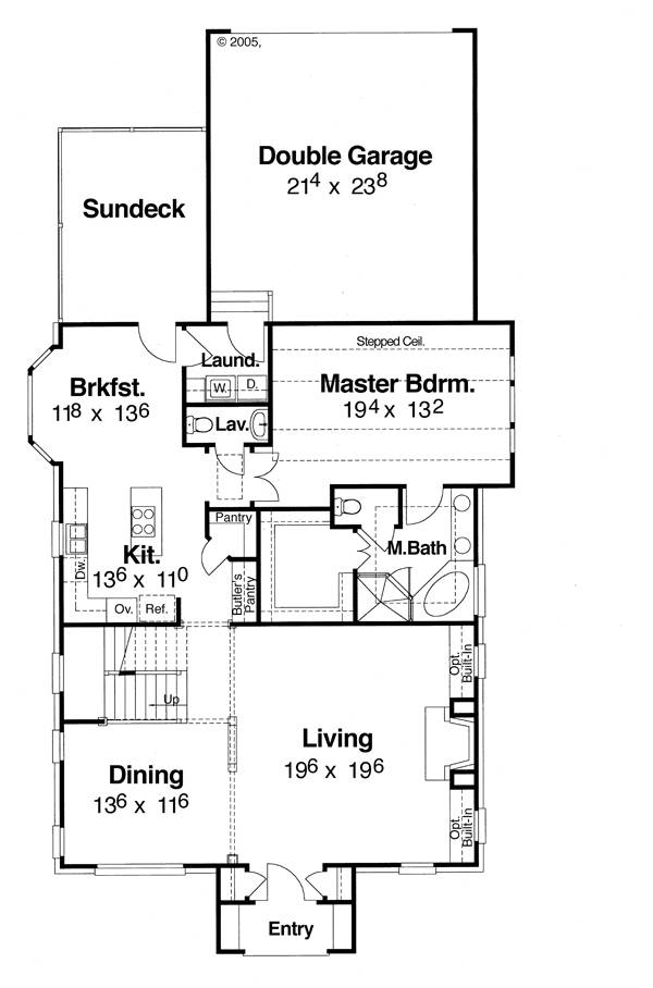 First Floor image of Featured House Plan: BHG - 5828