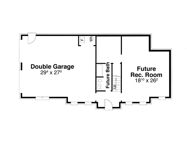 Lower Level image of Featured House Plan: BHG - 6797