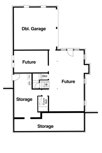 Lower Level image of Featured House Plan: BHG - 5822