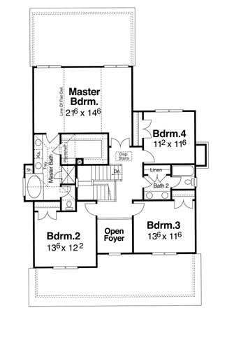 Second Floor image of Featured House Plan: BHG - 5822