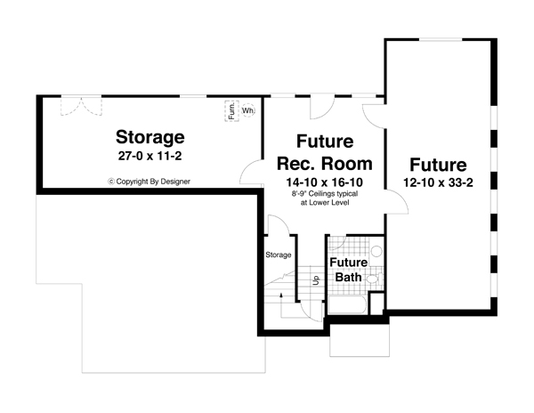 Lower Level image of Featured House Plan: BHG - 5729