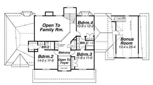 Second Floor image of Featured House Plan: BHG - 5733