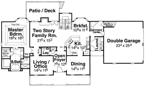 First Floor image of Featured House Plan: BHG - 5733