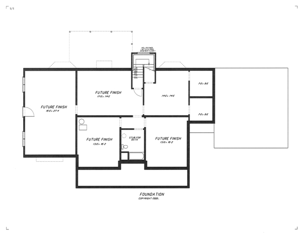 Lower Level image of Featured House Plan: BHG - 5733