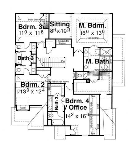 Second Floor image of Featured House Plan: BHG - 5829