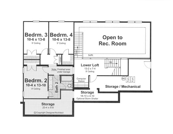 Middle Level image of Featured House Plan: BHG - 1204