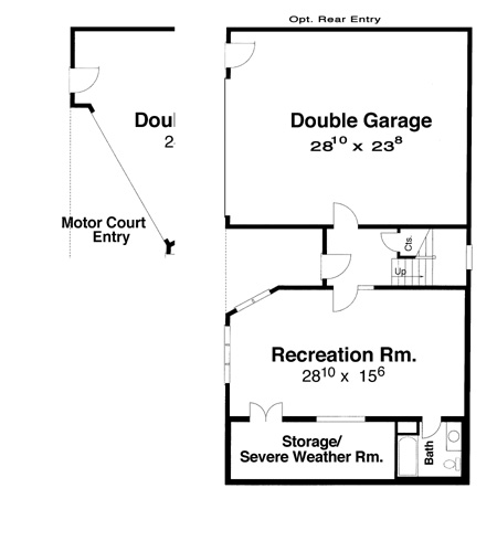 Ground Level image of Featured House Plan: BHG - 5827