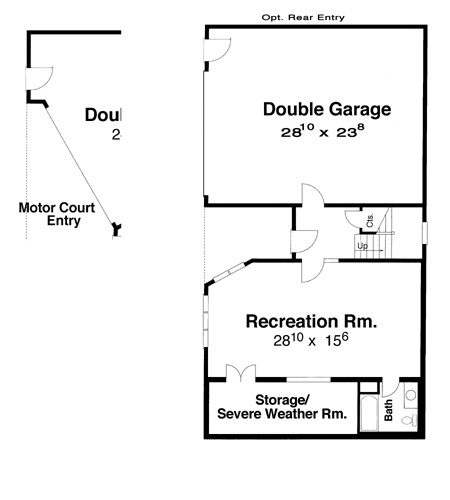 Ground Level image of Featured House Plan: BHG - 5826