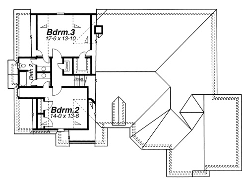 Second Floor image of Featured House Plan: BHG - 8264