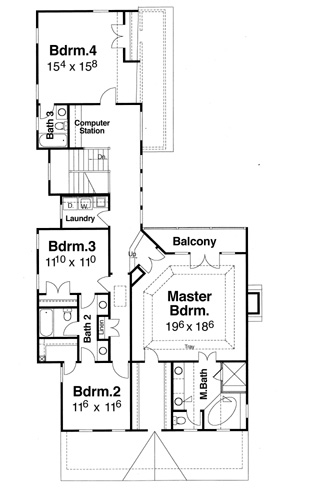 Second Floor image of Featured House Plan: BHG - 7949