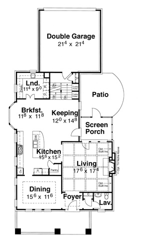 First Floor image of Featured House Plan: BHG - 5824