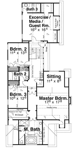 Second Floor image of Featured House Plan: BHG - 5824