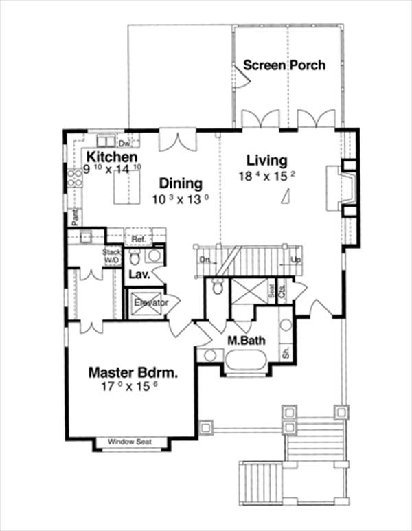 First Floor image of Featured House Plan: BHG - 6353